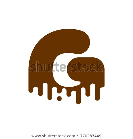 Letter G Chocolate font. sweetness alphabet. Liquid lettering. S Stock photo © MaryValery