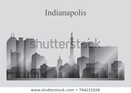 Városkép sziluett épület sziluett panoráma gyönyörű Stock fotó © Ray_of_Light