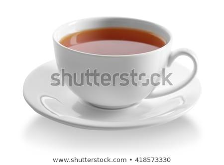 Copo chá bule isolado branco água Foto stock © alinamd