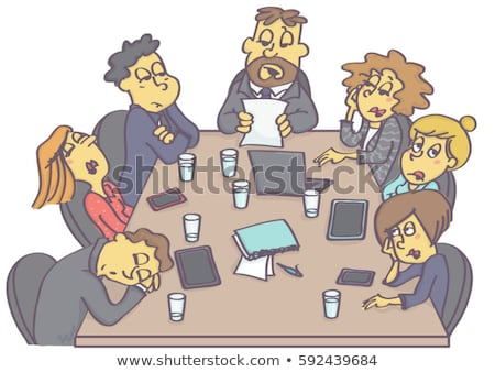 Meeting at boss. Manager and chief. Office life. Vector illustra Stock photo © MaryValery