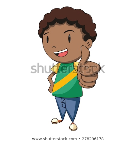 African-american little boy showing ok sign. Stock photo © RAStudio