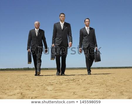 деловой человек бесплодный пейзаж бизнеса человека природы Сток-фото © IS2