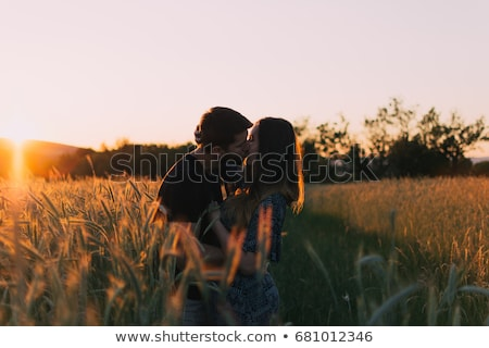 couple kissing in a tree stock photo © is2