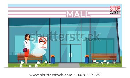 Sigara içme yer poster yeni baskı tıbbi Stok fotoğraf © Ecelop
