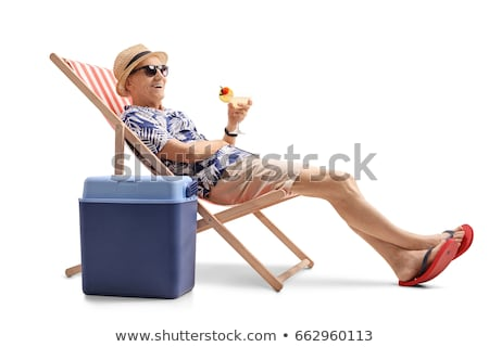Senior Adult man relaxing in deckchair Stock photo © IS2