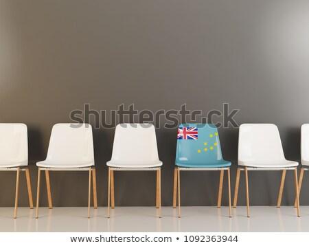 Cadeira bandeira Tuvalu branco cadeiras Foto stock © MikhailMishchenko