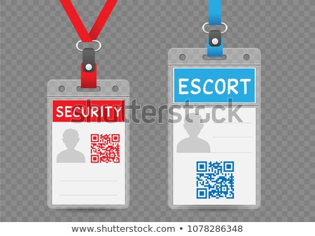 security escort vertical badge Stock photo © romvo