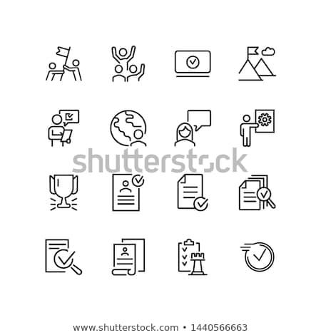 Icon cv business papier zakenman Stockfoto © MarySan