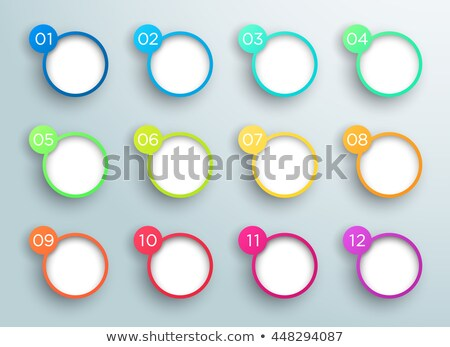Speech Bubble collection. Abstract frames for the design of business presentations illustrating comm Stock photo © ESSL