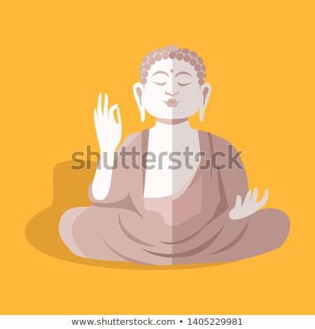 Magnificent Statue of Sitting Buddha Shakyamuni Stock photo © robuart