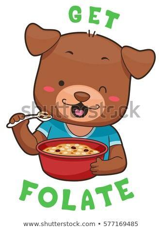Mascot Dog Whole Grain Cereal Folate Stock photo © lenm