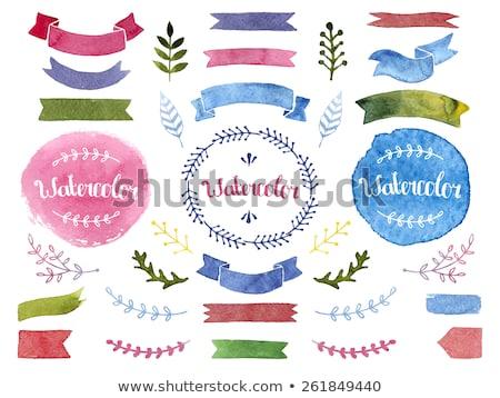 suluboya · afişler · el · boyalı · su · renk - stok fotoğraf © sarts