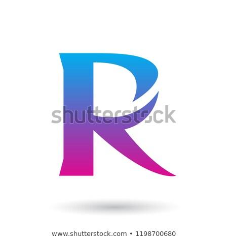 синий пурпурный градиент хвост вектора изолированный Сток-фото © cidepix