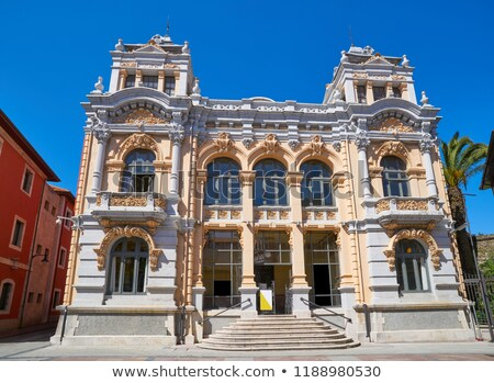 llanes post office correos building in asturias spain stock photo © lunamarina