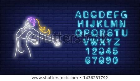 Gerçeklik neon bilgisayar Internet ışık dizayn Stok fotoğraf © Anna_leni