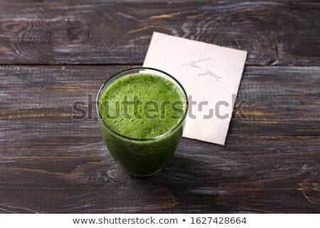 üveg · friss · smoothie · organikus · zöld · gyümölcsök - stock fotó © DenisMArt