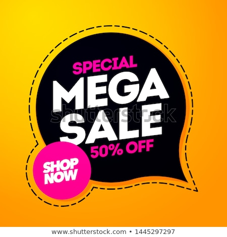 Big Sale Poster Red Background Stock photo © cammep