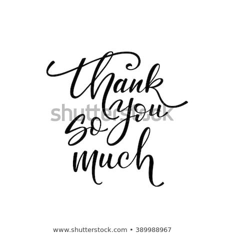 Köszönjük kártya kézzel rajzolt üdvözlet terv pötty Stock fotó © kollibri