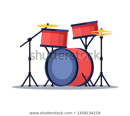 Drum Sticks in Color and Black and White Vector Illustration Stock photo © jeff_hobrath