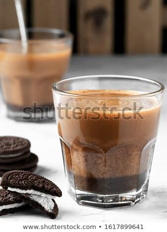 Glasses of fresh chocolate breakfast milk  Stock photo © DenisMArt
