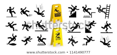 Cadere persona silhouette segno bianco strada Foto d'archivio © kyryloff