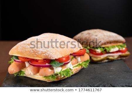 Due panini coppia decorativo salame uovo Foto d'archivio © fyletto