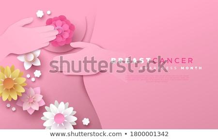 cancer · du · sein · conscience · ruban · modèle · eps10 - photo stock © rastudio