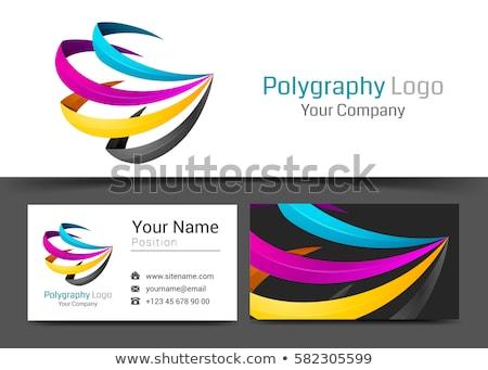 print cmyk abstract logo icon vector star Stock photo © blaskorizov