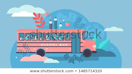School bus on the way to school Stock photo © colematt