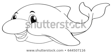 Doodles drafting animal for dolphin Stock photo © colematt