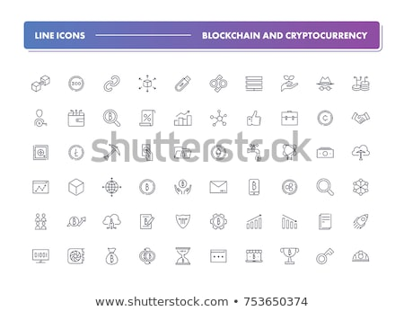 Blockchain & Cryptocurrency Vector Icon Set Stock photo © Fred