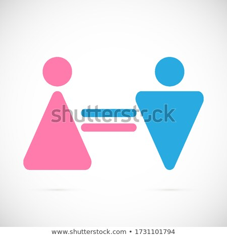 Stock photo: gender equality in a piece of paper