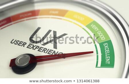 Web design marketing utente esperienza illustrazione 3d Foto d'archivio © olivier_le_moal