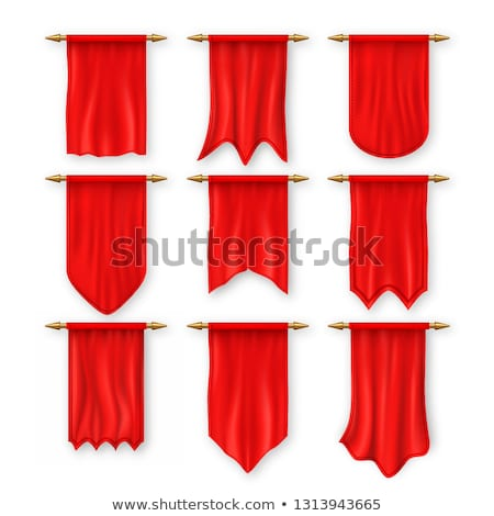 Red Pennat Flag Vector. Heraldic Surface. Textile. Fabric Canvas. 3D Realistic Isolated Illustration Stock photo © pikepicture