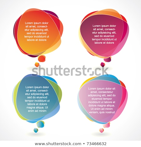 message and promotion set vector illustration stock photo © robuart