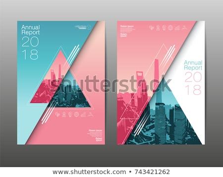 üçgen · biçim · afiş · şablon · vektör · sanat - stok fotoğraf © blumer1979