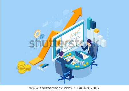 Imposto processo contabilidade auditor lupa mão Foto stock © -TAlex-