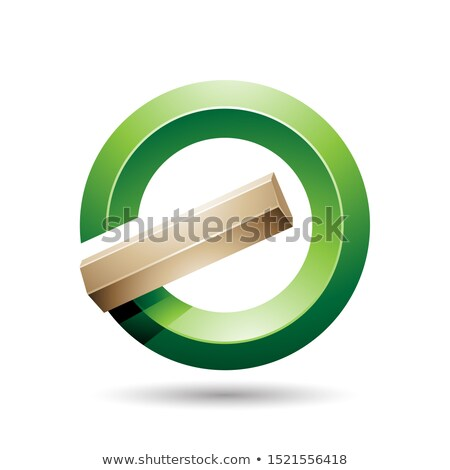 green and beige round glossy reversed letter g or a icon stock photo © cidepix