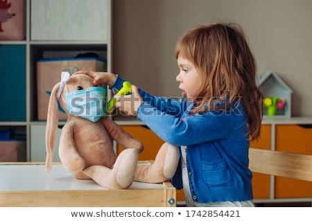 Piccolo ragazza coniglio bambola illustrazione Foto d'archivio © colematt