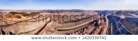 Carvão mina paisagem ilustração construção fundo Foto stock © colematt