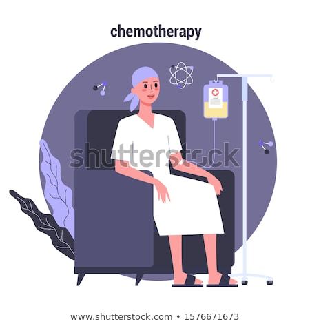 woman in hospital chair suffering from cancer Stock photo © Lopolo