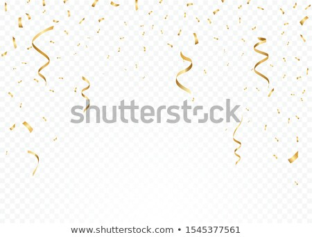 Stock photo: Falling Confetti Set Vector. Event Elements Decoration. Celebrate. Light Effect. Gift, Surprise. Rea