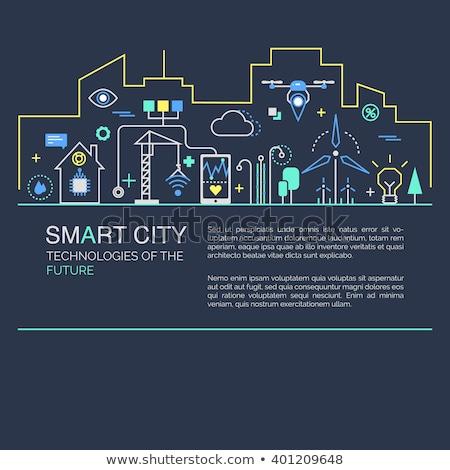 Smart detalicznej miasta banner para Zdjęcia stock © RAStudio