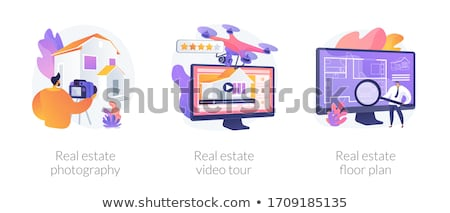 Tour Vektor 3D Wirklichkeit Fuß Stock foto © RAStudio