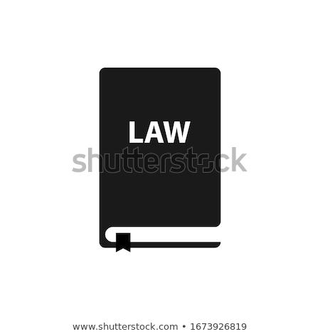 hukuk · ikon · kurallar · eps · 10 · el · sıkışma - stok fotoğraf © angelp