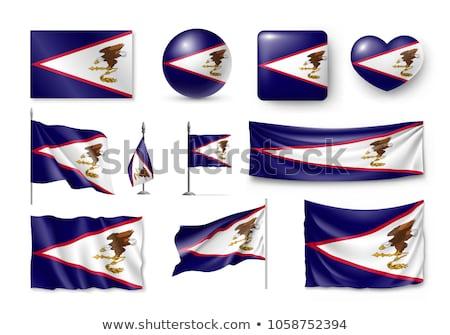 Territory of American Samoa flag  Foto stock © grafvision