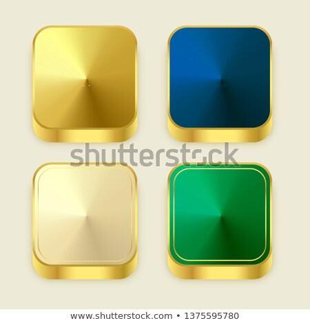 premium golden shiny 3s square buttons Zdjęcia stock © SArts