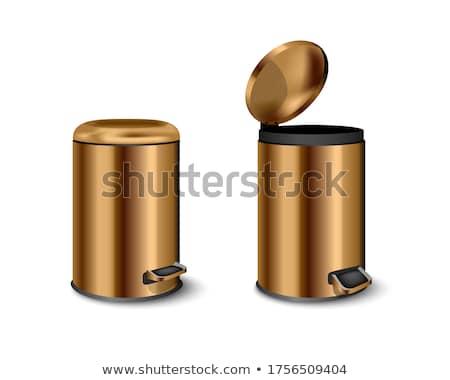 пусто металл мусорное ведро Top мнение зеленый Сток-фото © magraphics