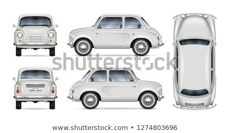 Little car vector mock-up Stock photo © YuriSchmidt