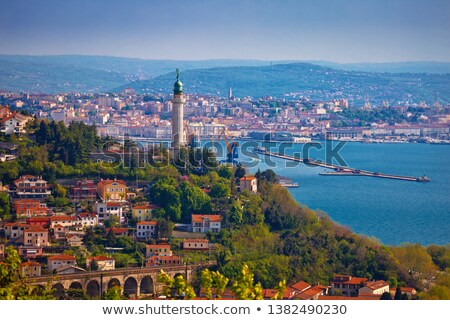 Stock photo: Trieste lighthouse and cityscape panoramic view